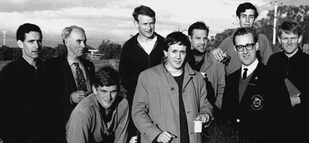 from left, Colin Findlay, Alex Jamieson, Andrew Jamieson, Dave Evans, Neil Lucas, Graham Wise, Peter Lucas, Rob Wilson, Hugh Wilson